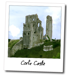 The picturesque village of Corfe, just a couple of miles away from Studland Summer Camp